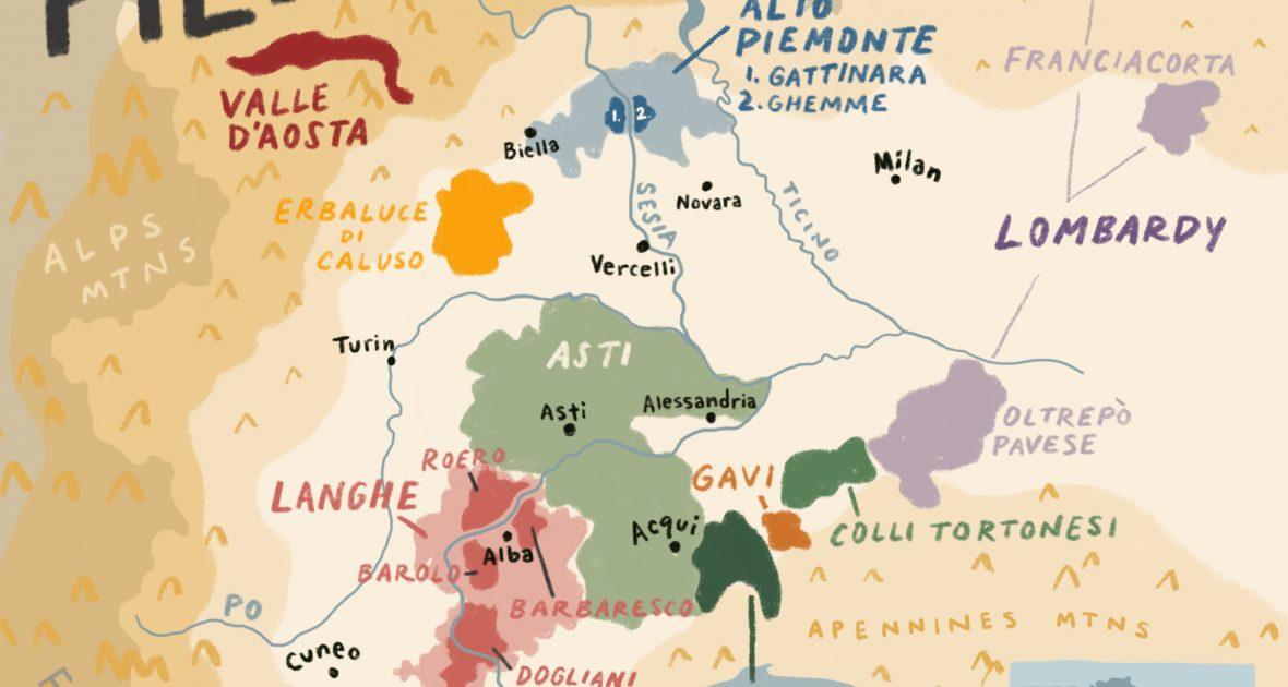 Valle d'Aosta, located in the northwest corner of Piedmont